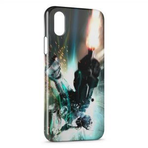 Coque iPhone X & XS Robot Fire Game