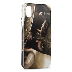 Coque iPhone X & XS Roi Leonidas 300