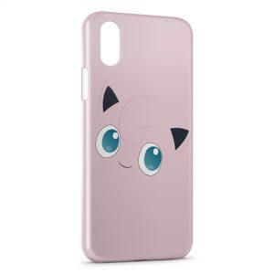 Coque iPhone X & XS Rondoudou Pokemon Simple Art 2