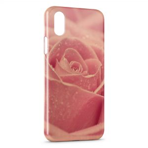 Coque iPhone X & XS Rose Design 2