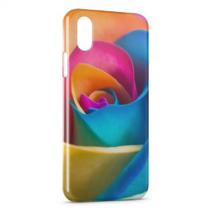 Coque iPhone X & XS Rose Multicolor 3