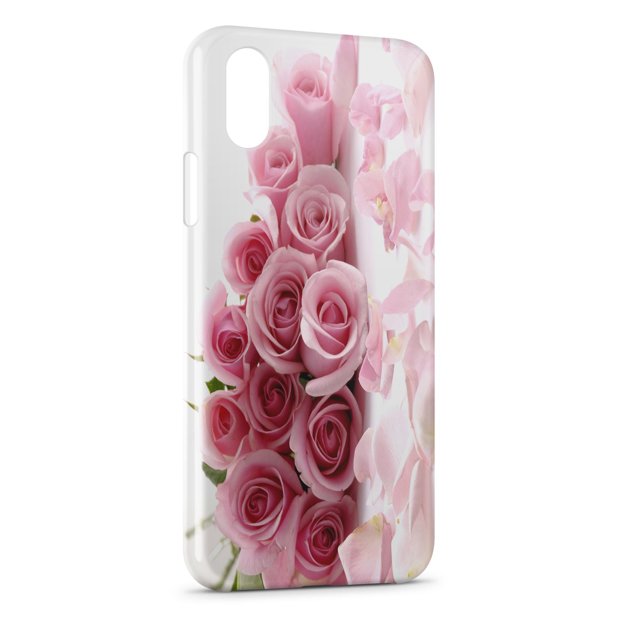 coque iphone x roses