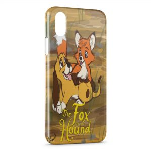 Coque iPhone X & XS Rox et Rouky Anime Graphic Art