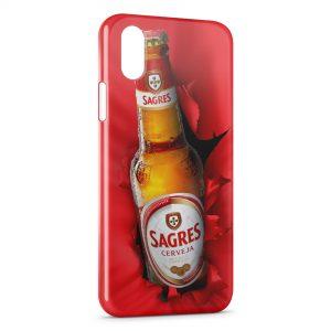 Coque iPhone X & XS Sagres Cerveja Bière Portugal