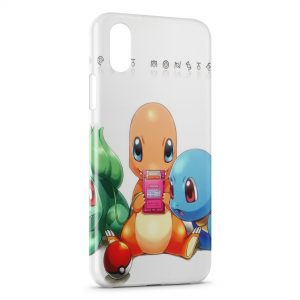 Coque iPhone X & XS Salameche Pokemon Gameboy