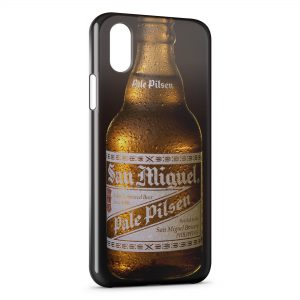 Coque iPhone X & XS San Miguel Bière Cerveza Espagnole