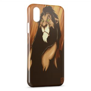 Coque iPhone X & XS Scar Le Roi Lion Art 2