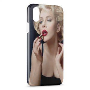 Coque iPhone X & XS Scarlett Johansson Rouge a lèvres