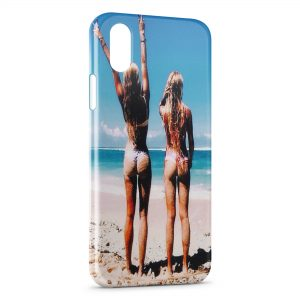 Coque iPhone X & XS Sexy Girl Beach 13