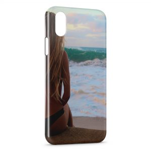 Coque iPhone X & XS Sexy Girl Beach Plage Mer Sea