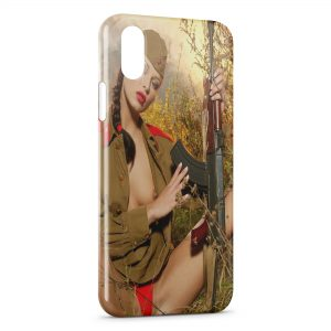 Coque iPhone X & XS Sexy Girl Chasse 2