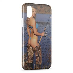Coque iPhone X & XS Sexy Girl Fish Pêche Poisson