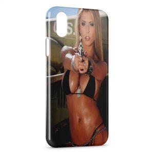 Coque iPhone X & XS Sexy Girl Gun 5