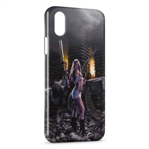 Coque iPhone X & XS Sexy Girl & Guns