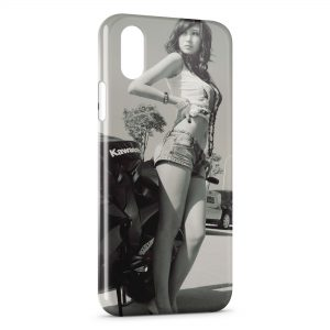 Coque iPhone X & XS Sexy Girl Kawasaki