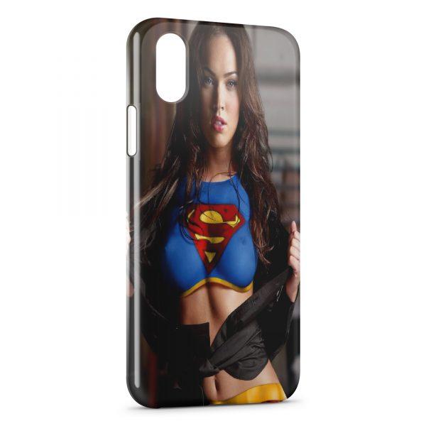 Coque iPhone X & XS Sexy Girl Megan Fox Superman