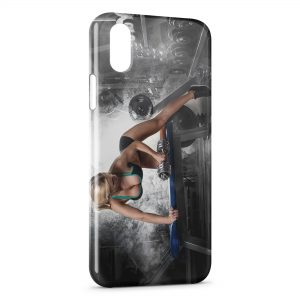 Coque iPhone X & XS Sexy Girl Musculation Fitness