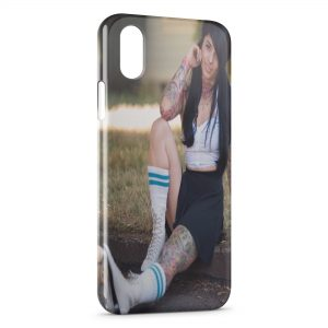 Coque iPhone X & XS Sexy Girl Roller