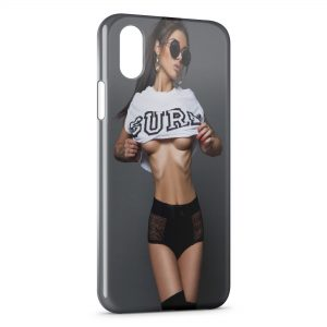 Coque iPhone X & XS Sexy Girl SURF