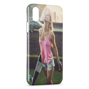 Coque iPhone X & XS Sexy Girl Skate