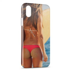 Coque iPhone X & XS Sexy Girl Surf 2