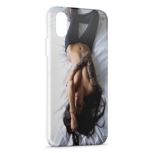 Coque iPhone X & XS Sexy Girl Tatoo 2