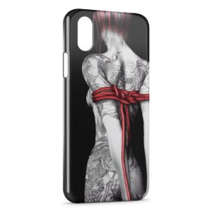 Coque iPhone X & XS Sexy Girl Tatouages