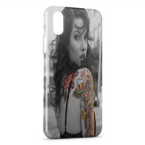 Coque iPhone X & XS Sexy Girl Tattoo 3