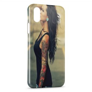 Coque iPhone X & XS Sexy Girl Tattoo