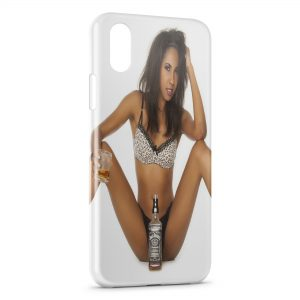 Coque iPhone X & XS Sexy Girl Whisky Jack Daniel's