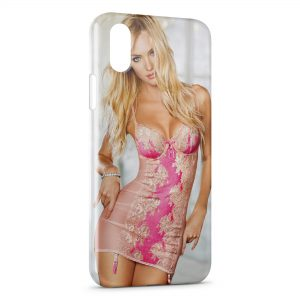 Coque iPhone X & XS Sexy Girl blonde