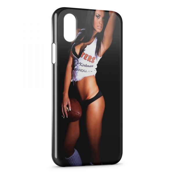 Coque iPhone X & XS Sexy Girl football américain
