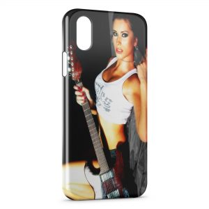 Coque iPhone X & XS Sexy Hot Girl Guitare