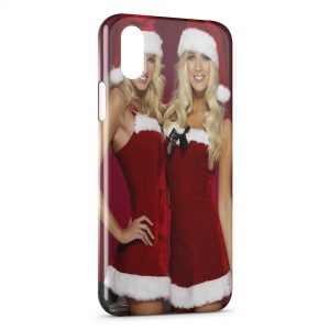 Coque iPhone X & XS Sexy Noel Girl