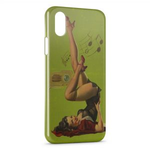 Coque iPhone X & XS Sexy Pin Up 4