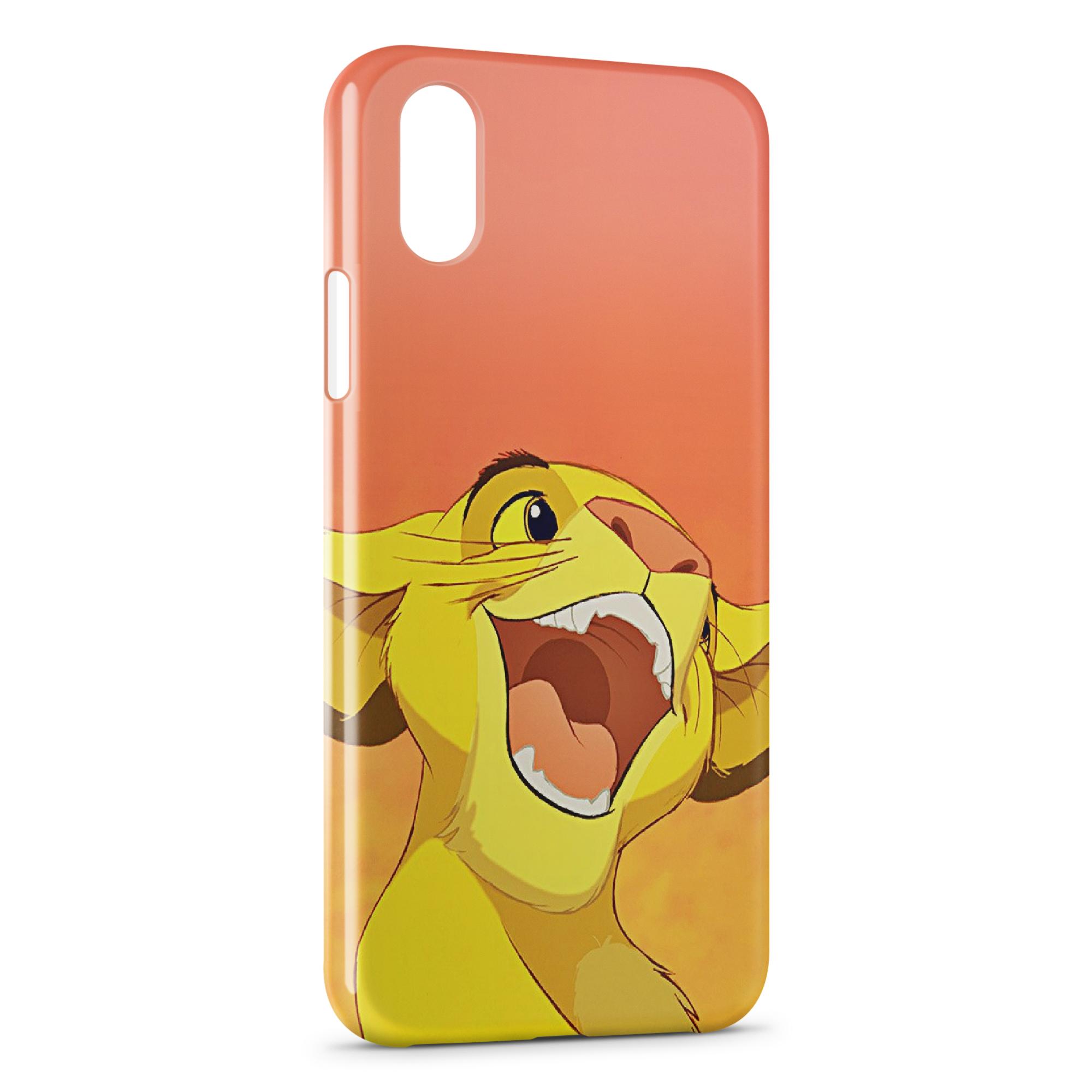 coque iphone xr roi lion transparente