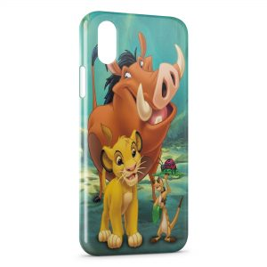 Coque iPhone X & XS Simba Timon Pumba Le Roi Lion