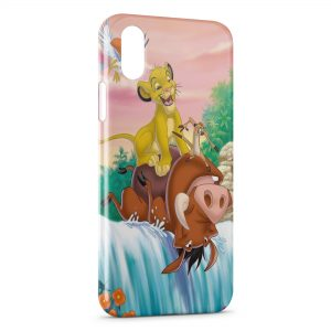 Coque iPhone X & XS Simba Timon Pumba Le Roi Lion 2