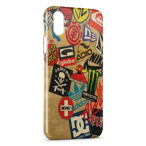 Coque iPhone X & XS Skateboard marques