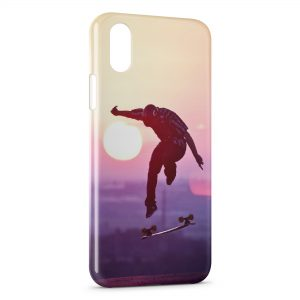 Coque iPhone X & XS Skateboarding & Sunshine