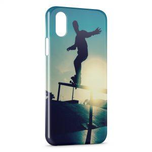 Coque iPhone X & XS Skateboarding & Sunshine