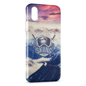 Coque iPhone X & XS Skater & Sunset