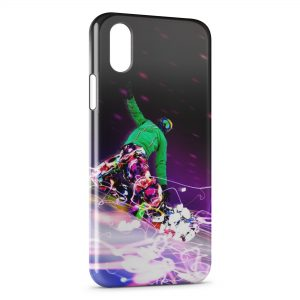 Coque iPhone X & XS Snowboard Paradise