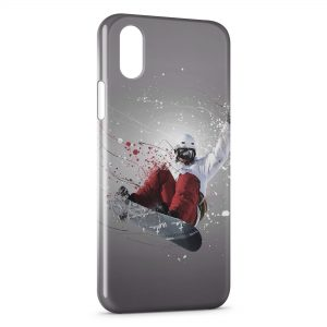 Coque iPhone X & XS Snowboarder Art