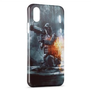 Coque iPhone X & XS Soldat Fire Style 2