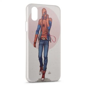 Coque iPhone X & XS SpiderMan Design Art