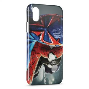 Coque iPhone X & XS Spiderman Tetes