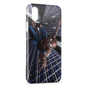 Coque iPhone X & XS Spiderman Vintage Colors