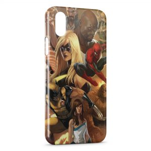 Coque iPhone X & XS Spiderman Wolverine Marvel Style