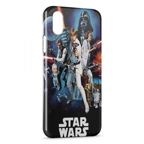 Coque iPhone X & XS Star Wars Affiche Vintage
